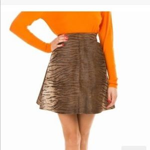 House of Holland Tiger Calfhair Skirt UK 8…